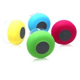 Hot Sale Mini Waterproof Wireless Bluetooth Speaker Shower Handsfree Suction Speakers For Phone Free Shipping speaker earphone