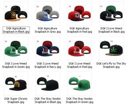 Wholesale Top Quality New Fashion Color Styles DGK Agriculture I Love Stay Smokin Snapbacks Hip Hop Hats Baseball Caps Mens Womens Caps