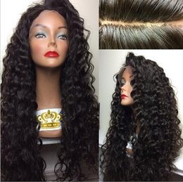 150%-180% Density Brazilian Hair Lace Front Wigs Heat Resistant Fiber Wigs Glueless Deep Curly Synthetic Lace Front Wigs