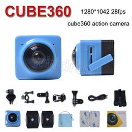 Caméscopes mini- à vendre-Caméra Panoramique CUBE 360 Mini Sports Action 360 ° 190 ° Caméra WiFi Caméra H.264 1280 * 1042 720P Vidéo Caméscope Mini coloré le moins cher 30