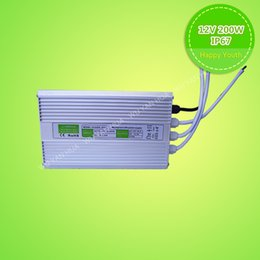 CE ROHS 200W LED Driver Power Supply DC12V LED electronic Transformer Waterproof ip67 AC110-265V Switching
