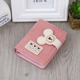 Promotion mickey bourse Purse Livraison gratuite 2016 Nouvelle arrivée grande capacité en cuir Mode Coréenne Belle Mickey Prints Magie Boucle Marque Mini Femmes