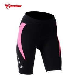 Tasdan 3 Color Womens Cycling Shorts Reflective Transfer Printing Compressed Tights Shorts Pants Mountain Bike Shorts