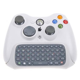 Wholesale White Keyboard Keypad Chat pad Live for Microsoft Xbox Controller Video Game