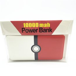 Wholesale Newest Poke Go Power Bank mAh In AR Game Portable Charge Ultra Thin Slim Powerbank For Apple Samsung With Cable