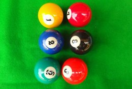 Wholesale American billiards son colour large sized mm billiards snooker adult standard black eight amateur ball material of the resin