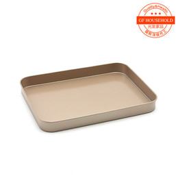 Wholesale A rectangular pan grilled chicken wings cake bread plate golden inch nonstick coating of high grade imported FDA