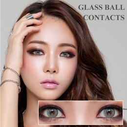 Wholesale Hot Selling Glass Ball Color Contact Lenses Big Eye Circle Lens Ready Stock