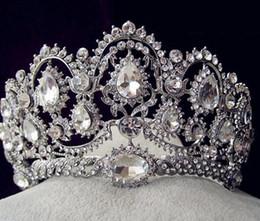 Sparkly Beaded Crystals Wedding Crowns 2019 Bridal Crystal Crown Headband Hair Accessories Party Wedding Tiara Cheap