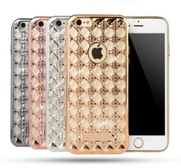 Wholesale IPhone S PLUS Eletroplating TPU Agate Phone Shell Protection Metal Armor Mobile Case For iphone s Samsung A510 A710 A8 A9