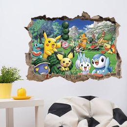 Wholesale 2016 Poke Pikachu Decal Removable Wall Sticker cm Pokémon go Home Decor Art Kids Children Nursery Loving Home Decoration DHL