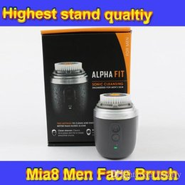 Wholesale Skin Care Tools Mia8 Alpha Fit Men s Cleansing device Microdermabrasion Face Device Men Facial Brush VS PMD Mia2 Beautiful Product DHL Free