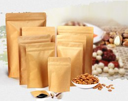 Food Moisture-proof Bags,Kraft Paper with Aluminum Foil Lining Stand UP Pouch,Ziplock Packaging Bag for nuts cookie etc. 100ps lot