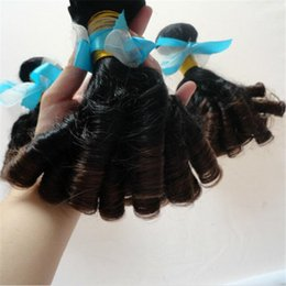 Cheap Ombre Hair 3 Pieces Aunty Funmi Hair VirginMalaysian Hair Funmi Curly Weave 1B 4 Two Tone RemyHuman Hair Extensions