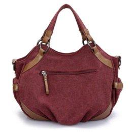 Wholesale Fashion Canvas Lady Handbag Women s Casual Shoulder Bag Girls Travel Messenger Bag Cheap bags industrial