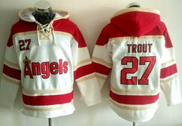 Wholesale Baseball hoodie Los Angeles Angeles Mike Trout Reggie Jackson Rod Carew new hoodie name number Stitched