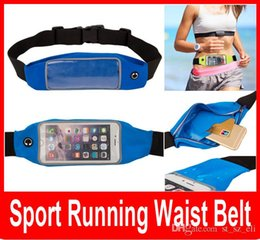 Wholesale Waterproof Reflective Running Sport Waist Belt Pouch Elastic Adjustable Band Breathable Mobile Phone Pocket For iPhone Android Smartphone