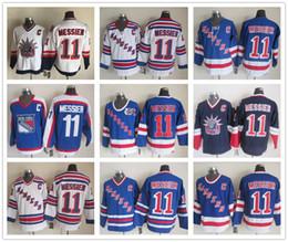 Mark Messier Maillot NHL Hockey sur glace New York NY Rangers Maillots Liberty Winter Classic CCM Vintage Stade Série Retouche Blanc Bleu à partir de série de hockey fournisseurs