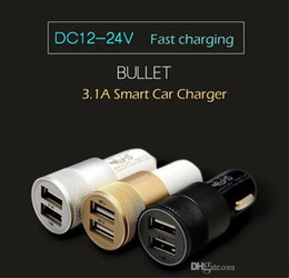 Wholesale Best Metal Aluminium Dual Port USB Car Charger adapter Universal Amp for Apple iPhone iPad iPod Samsung Galaxy Motorola Droid Nokia