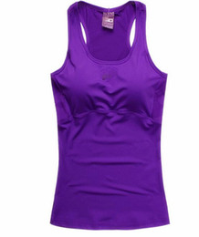 Wholesale-Professional Fitness Tank Top Sexy Women Sport T Shirt Workout Vest Exercise Clothes Running Jogging Gym Purple Free Shipping