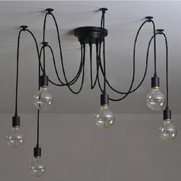 6 Heads Mordern Nordic Retro Edison Bulb Light, Industrial Vintage Ceiling Lamp, Edison Light Pendant Lighting Holder