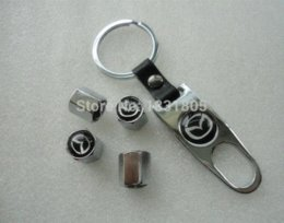 Wholesale Silver set Mazda Emblem Decal Car Wheel Tyre tire valve caps Screws Nuts Car Tyres and Accessories Fit Mazda etc