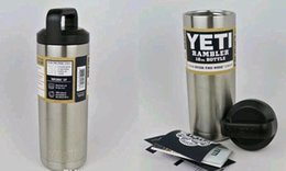 Wholesale Yeti oz Rambler Stainless Steel Cups Large Capacit Cooler oz YETI Rambler Tumbler bottle Vehicle Mug Double Wall Bilayer XMAS gift
