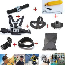 Action Cam Accessories Chest Head Strap Monopod Floating Bobber Mount for Sport Cam Xiaomi Yi SJCAM Sj4000 black edition