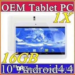 "Dhl de la tableta de 8 gb en venta-1 DHL 10 ""pulgadas MTK6572 MTK6589 Dual Core Quad a 1,2 GHz Android 4.4 WCDMA 3G de la tableta llamada de teléfono bluetooth pc Wifi GPS de doble cámara de 1 GB 16 GB A-10PB"