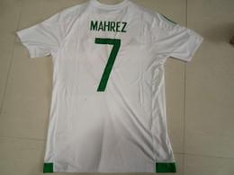 Wholesale Design custom thai Quality Algeria Home MAHREZ Soccer JerseyS MEN personalized Football Jersey shirts TOP Soccer Wear TOPs