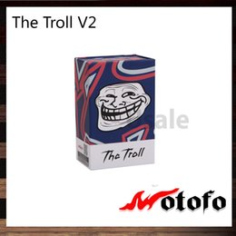 Wholesale Wotofo The Troll V2 RDA Post Build Deck With mm Wire Holes Two Adjustable Airflow Options Original