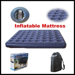 Wholesale Unique Design Double Air Mattress Indoor And Outdoor For Household Flocking Inflatable Bed Multiple Sizes DHL Free