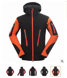 sportwear outdoor camping hiking hunting biking men jacket spring autumn winter fleece hooded jacket outerwear coats Black Gray orange S-XXL
