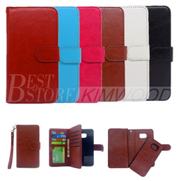For Samsung Note 7 Case Multi-Function Wallet Case PU 9 Card Slot Case For Iphone 6S 5S Samsung Note 5 with Opp Package