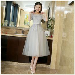 Vestidos de fiesta gris plata cortos