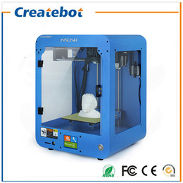 Wholesale Createbot Mini D Printer fully assembled kits FDM Injection Molded with touch Screen Off line Printing for Artistic Education