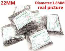 Regarder des pièces de réparation à vendre-Gros-gros 1000PCS / bag kits outils de haute qualité montre de réparation 22MM printemps montre bar diamètre des pièces de rechange 1.8mm - BS834