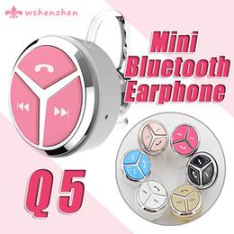 2016 Mini in-ear Q5 Bluetooth earphone With MIC Music earphone handsfree mini headphone Sport in-ear Earphone Headset