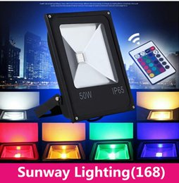 Wholesale Newly RGBW LED W flood light outdoor waterproof W W W W power enough super bright many color adjust remote controller