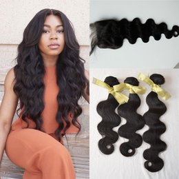 3pcs Hair Bundles With 1pc Lace Closure Full Head Brazilian Virgin Human Hair weave Peruvian Hair Extensions Weave G-EASY