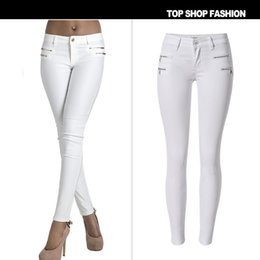 Wholesale High Waist Jeans American Apparel New And American Popular Spring Tower Chaorou Cashmere Leather Pants Jeans Stretch Slim Size