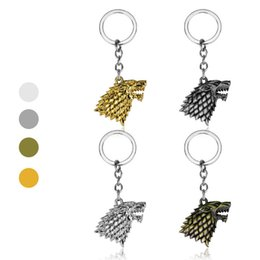 Wholesale Fashion Game of Thrones Keychain House Stark Key Chain Song Of Ice And Fire Key Rings Holder Souvenir For Gift Chaveiro Men Jewelry