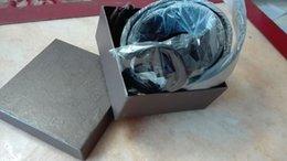 Wholesale High quality Logo Alloy real leather belt ms key luxury Designer men s Belts original packing box dust bag card
