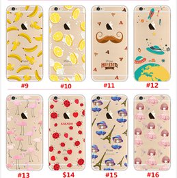 Wholesale Color Flower Candy Fruit TPU Case Ultra Thin Cartoon Back Cover For iPhone Plus