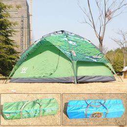 Alta calidad Tienda de campaña Capas Familia automático persona 3-4 dobles prueba de lluvia pesca al aire libre de la caza del refugio de picnic Dome Carpas MA0197 desde altos tiendas de campaña fabricantes