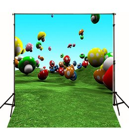 Wholesale 200CM CM Digital Printing background Colorful mushroom filled the air photography backdrops photo For Children baby background