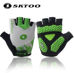 SKTOO short finger gloves summer riding gloves gloves male and female mountain bike cycling equipment