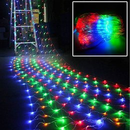 Wholesale 2M x M LED Linkable Web Net Mesh Fairy String Light for Indoor Outdoor Home Garden Christmas Party Wedding Curtain String Lights