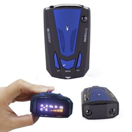 Wholesale EDFY Hot New Blue Color English Voice Degree Anti Police Radar Detector V7 For Car Speed Limited GPS Radar Detector