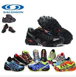 Wholesale 2016 zapatos de senderismo para hombre Salomon Speedcross zapatos de deporte al aire libre Salomón zapatillas de deporte de los zapatos corrientes Solomons Botas Tamaño